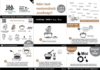 JooSoap liquid soap making Finnish