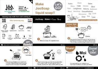 joosoap liquid soap making english