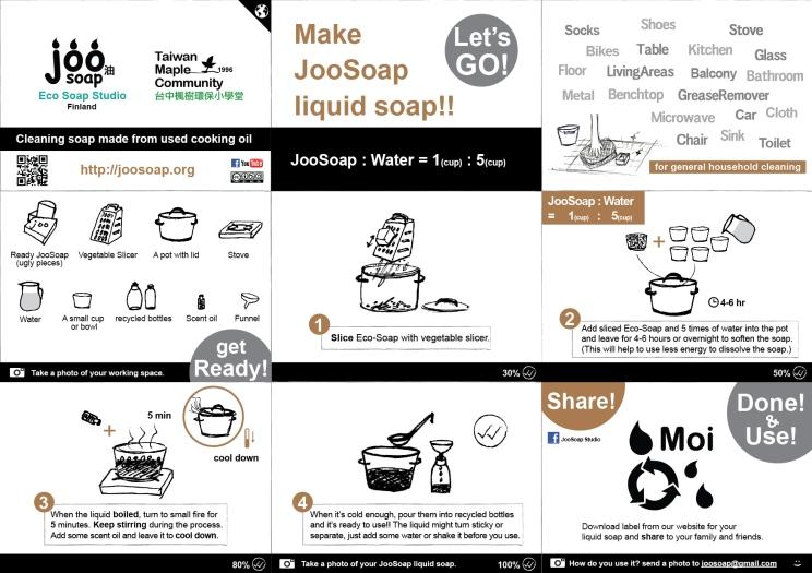 joosoap liquid soap making english